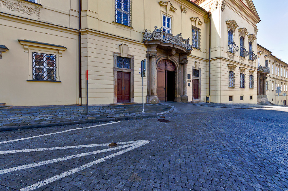 View of the exterior of the New Town Hall in Brno, in the Czech Republic. Brno is the 2nd largest city in the Czech Republic and a very popular tourist destination.