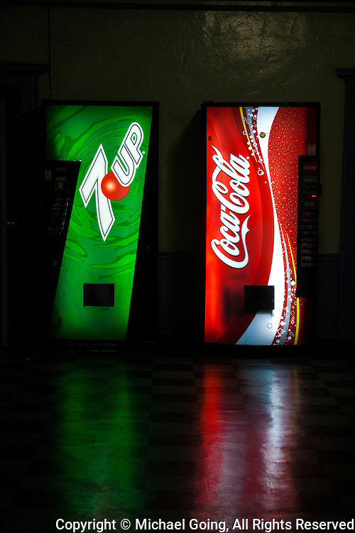 7-Up and Coca Cola vending machines