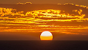 Summer Sunset over the Pacific Ocean in Orange County California