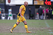 David Pipe of Newport County celebrates after the EFL Sky Bet League 2 match between Newport County and Yeovil Town at Rodney Parade, Newport, Wales on 14 April 2017. Photo by Andrew Lewis.
