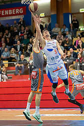 13.04.2019, SPH Walfersam, Kapfenberg, AUT, Admiral BBL, Kapfenberg Bulls vs Raiffeisen Fürstenfeld Panthers, 33. Runde, im Bild Bogic Vujosevic (Kapfenberg Bulls) // during the Admiral Basketball league, 33th round match between Kapfenberg Bulls and Raiffeisen Fürstenfeld Panthers at the SPH Walfersam in Kapfenberg, Austria on 2019/04/13. EXPA Pictures © 2019, PhotoCredit: EXPA/ Dominik Angerer