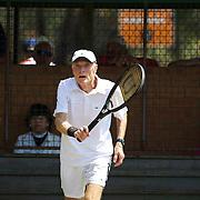 Kingdon Van Nostran, USA, in action in the 75 Mens Singles  during the 2009 ITF Super-Seniors World Team and Individual Championships at Perth, Western Australia, between 2-15th November, 2009.