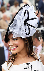 Kelly Brook at Ladies Day at Glorious Goodwood, Thursday, 2nd August 2012 Photo by: Stephen Lock / i-Images