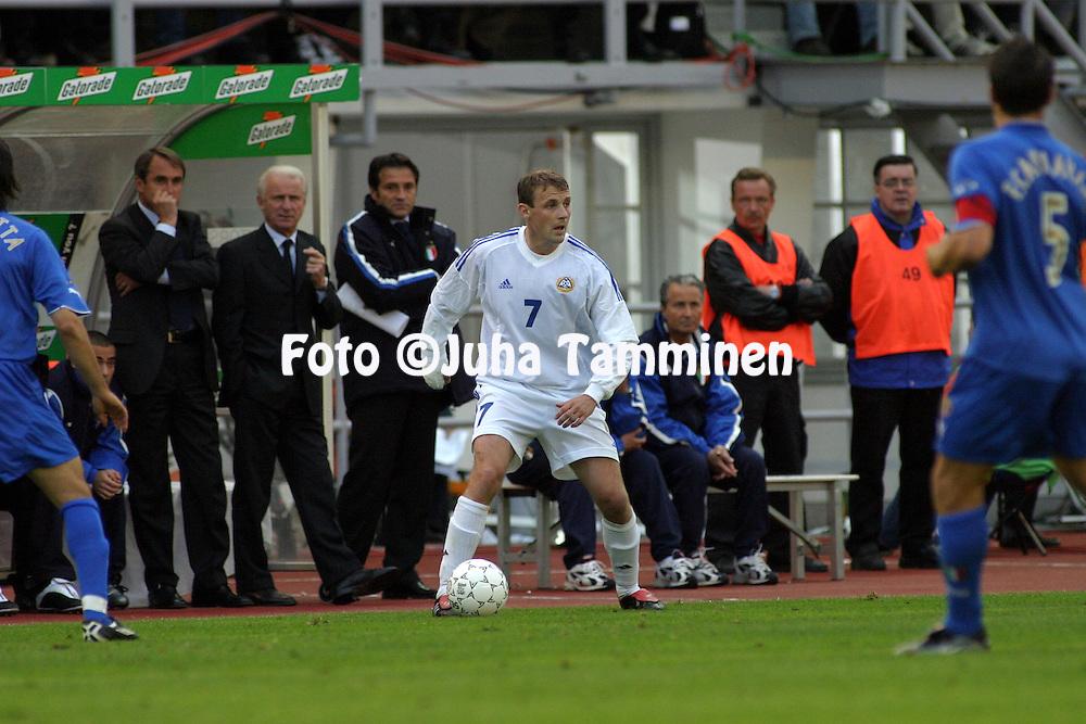 11.06.2003, Olympic Stadium, Helsinki, Finland..UEFA European Championship Qualifying match, Group 9, Finland v Italy.Mika Nurmela - Finland.©Juha Tamminen