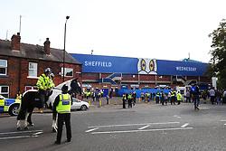 A police presence outside Hillsborough Stadium - Mandatory by-line:  Matt McNulty/JMP - 24/09/2017 - FOOTBALL - Hillsborough - Sheffield, England - Sheffield Wednesday v Sheffield United - Sky Bet Championship