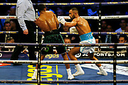 Kid Galahad and Claudio Marrero boxing before the Kell Brook vs Mark DeLuca WBO Inter-Continental Super Welterweight fight at the FlyDSA Arena, Sheffield, United Kingdom on 8 February 2020.