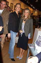Left to right. LADY EMILY COMPTON and LADY SYBILLA HART at a private view of paintings by George Lewis held at the Air Gallery, 32 Dover Street, London W1 on 5th October 2005.<br />