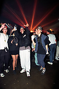 People at a rave with lasers, Hysteria, Sanctuary.<br /> 21/10/1995