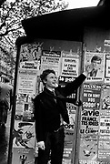 Malcolm McLaren, The Sex Pistols Manager in Paris - 1980