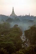 The iconic Shweddagon Paya in Rangoon.