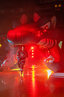 KELOWNA, CANADA - SEPTEMBER 22:  Devin Steffler #4 of the Kelowna Rockets enters the ice against the Kamloops Blazers on September 22, 2018 at Prospera Place in Kelowna, British Columbia, Canada.  (Photo by Marissa Baecker/Shoot the Breeze)  *** Local Caption ***