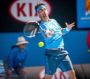 Tennis bad boy Fabio Fognini (ITA) faced 2013 Australian Open winner N. Djokovic in day seven of the 2014 Australian Open in Melbourne. Djokovic won over Fognini 3-6, 0-6, 2-6.