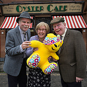 Still Game meets River City for a special sketch filmed exclusively by BBC Scotland for Children in Need, to be broadcast on Sat 15th November, BBC One Scotland, 6.10pm. L-R:  Greg Hemphill (Victor, Still Game), Jane McCarry (Isa, Still Game), Ford Kiernan (Jack, Still Game) & Pudsey (BBC Children in Need). Picture Robert Perry 8th Nov 2014<br /> <br /> Must credit photo to BBC Scotland / Robert Perry<br /> <br /> Image is free to use in connection with the promotion of the above company or organisation. 'Permissions for ALL other uses need to be sought and payment make be required.<br /> <br /> <br /> Note to Editors:  This image is free to be used editorially in the promotion of the above company or organisation.  Without prejudice ALL other licences without prior consent will be deemed a breach of copyright under the 1988. Copyright Design and Patents Act  and will be subject to payment or legal action, where appropriate.<br /> www.robertperry.co.uk<br /> NB -This image is not to be distributed without the prior consent of the copyright holder.<br /> in using this image you agree to abide by terms and conditions as stated in this caption.<br /> All monies payable to Robert Perry<br /> <br /> (PLEASE DO NOT REMOVE THIS CAPTION)<br /> This image is intended for Editorial use (e.g. news). Any commercial or promotional use requires additional clearance. <br /> Copyright 2014 All rights protected.<br /> first use only<br /> contact details<br /> Robert Perry     <br /> 07702 631 477<br /> robertperryphotos@gmail.com<br />        <br /> Robert Perry reserves the right to pursue unauthorised use of this image . If you violate my intellectual property you may be liable for  damages, loss of income, and profits you derive from the use of this image.