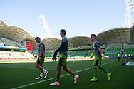 MELBOURNE, VICTORIA - JANUARY 06: Newcastle Jets walks onto the pitch prior to the match at the Hyundai A-League Round 11 soccer match between Melbourne City FC and Newcastle Jets on at AAMI Park in NSW, Australia 06 January 2019. (Photo by Speed Media/Icon Sportswire)