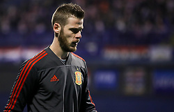 David de Gea of Spain prior to the UEFA Nations League football match between Croatia and Spain, on November 15, 2018, at the Maksimir Stadium in Zagreb, Croatia. Photo by Morgan Kristan / Sportida
