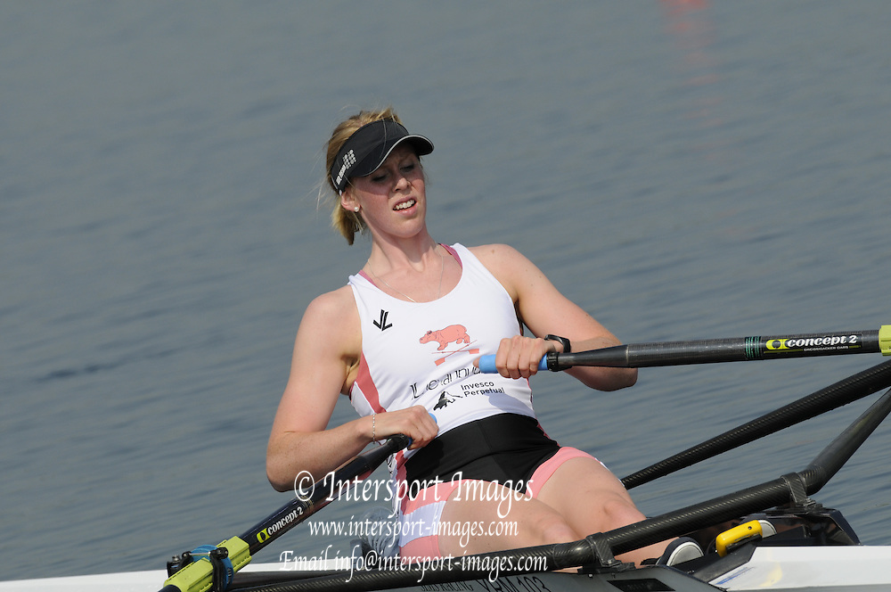 Eton, United Kingdom. Women's  Single, Rachel GAMBLE-FLINT, after  the B  final at  the 2011 GBRowing Trials, Dorney Lake. Sunday  17/04/2011  [Mandatory Credit; Peter Spurrier/Intersport-images] Venue For 2012 Olympic Regatta and Flat Water Canoe events.