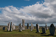The Callanish standing stones on Lewis. Photographed while on tour for the Great Tapestry of Scotland project. www.scotlandstapestry.com<br /> <br /> pictures by Alex Hewitt