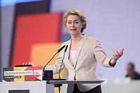 22 NOV 2019, LEIPZIG/GERMANY:<br /> Ursula von der Leyen, CDU, gewaehlte Praesidentin der Europaeischen Kommission, haelt eine Rede, CDU Bundesparteitag, CCL Leipzig<br /> IMAGE: 20191122-01-056<br /> KEYWORDS: Parteitag, party congress