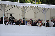 Henley, GREAT BRITAIN,  Stewards Floating grandstand.  2008 Henley Royal Regatta, on Saturday, 05/07/2008,  Henley on Thames. ENGLAND. [Mandatory Credit:  Peter SPURRIER / Intersport Images] Rowing Courses, Henley Reach, Henley, ENGLAND . HRR