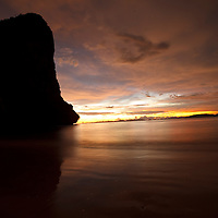 Sunset on Rai Lay Beach West, Krabi, Thailand