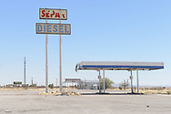 Old Gas Sration near Separ along I 10, New Mexico,USA