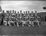06/05/1956<br /> 05/06/1956<br /> 6 May 1956<br /> National Hurling League Final: Kerry v Antrim at Croke Park. Kerry Team.