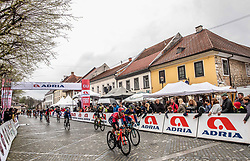 Peloton during the cycling race 5th Grand Prix Adria Mobil, on April 7, 2019, in Novo mesto, Slovenia. Photo by Vid Ponikvar / Sportida