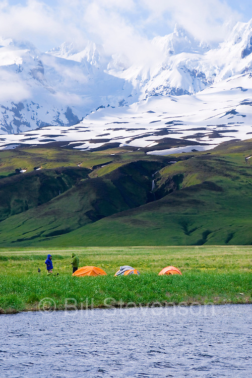 This was our basecamp beneath Mount Recheshnoi. Our objective, Mount Vsevidov, is out of sight to the right.