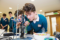 11/11/2015 Repro free:   More than 300 students visited the Marine Institute for Galway Science &amp; Technology Festival and the Sea for Society project. At the event were <br /> Daniel Fuller and Jack Kissane from Colaiste na Coirbe. Photo:Andrew Downes, xposure.