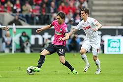 18.03.2017, Rhein Energie Stadion, Koeln, GER, 1. FBL, 1. FC Koeln vs Hertha BSC, 25. Runde, im Bild vl. Genki Haraguchi (Berlin, #24), Simon Zoller (FC Koeln, #11) // during the German Bundesliga 25th round match between 1. FC Cologne and Hertha BSC at the Rhein Energie Stadion in Koeln, Germany on 2017/03/18. EXPA Pictures © 2017, PhotoCredit: EXPA/ Eibner-Pressefoto/ Horn<br /> <br /> *****ATTENTION - OUT of GER*****