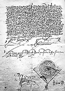 Copy of the Spanish edict of expulsion of teh Arabs from Spain 1492