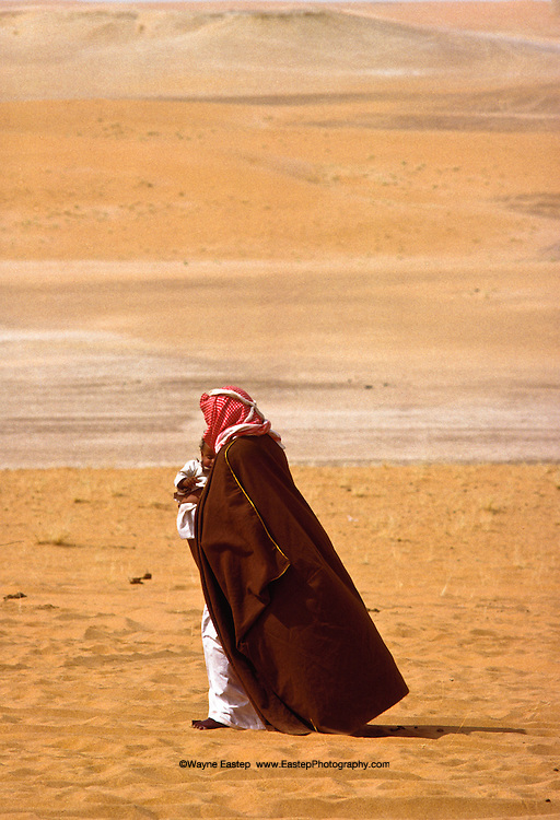 There is a close relationship between grandparents and children.  Shammar tribe, Nafud Desert, Saudi Arabia
