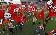 TAMPA, FL - AUGUST 27: Introduction of the Tampa Bay Buccaneers during the preseason game against the Miami Dolphins at Raymond James Stadium on August 27, 2011, in Tampa, Florida. The Buccaneers won 17-13. (photo by MIke Carlson/Tampa Bay Buccaneers)