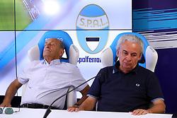 FRANCESCO COLOMBARINI E WALTER MATTIOLI<br /> CONFERENZA DISSEQUESTRO STADIO PAOLO MAZZA DOPO LE VERIFICHE