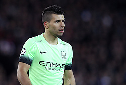Sergio Aguero of Manchester City - Mandatory by-line: Robbie Stephenson/JMP - 06/04/2016 - FOOTBALL - Parc des Princes - Paris,  - Paris Saint-Germain v Manchester City - UEFA Champions League Quarter Finals First Leg