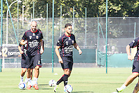 Hatem Ben Arfa / Mathieu Bodmer  - 29.06.2015 - Reprise Entrainement de Nice - 2015/2016<br />Photo : Serge Haouzi / Icon Sport