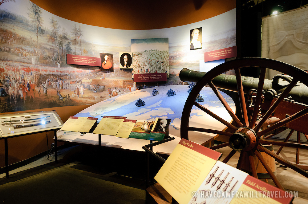 Exhibit on historic military campaigns at the National Museum of American History at the Smithsonian Institution