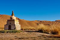 Chine, région autonome de Mongolie intérieure, désert de Badain Jaran, désert de Gobi, Badain Jilin, monastere mongol du 17e siecle // China, Inner Mongolia, Badain Jaran desert, Gobi desert, Mongol monastery of Badain Jilin