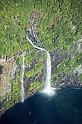 Aerial over Milford Sound, New Zealand
