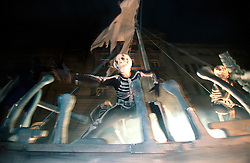 IRELAND DUBLIN 17MAR00 - Ghosts and skeletons from the Barcelona Theatre Company sway drunkenly on their ship the night before the St. Patrick's Day celebrations in Dublin...jre/Photo by Jiri Rezac..© Jiri Rezac 2000..Contact: +44 (0) 7050 110 417.Mobile:  +44 (0) 7801 337 683.Office:  +44 (0) 20 8968 9635..Email:   jiri@jirirezac.com.Web:     www.jirirezac.com..© All images Jiri Rezac 2000 - All rights reserved.