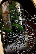 Decorative wrought iron gate in Charleston, SC.