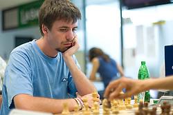 Jure Skobrne in action during the Slovenian National Chess Championships in Ljubljana on August 9, 2010.  (Photo by Vid Ponikvar / Sportida)