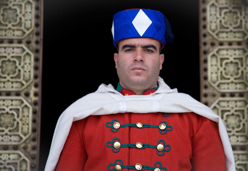 Royal Guard at the Mausoleum of Mohammed V.