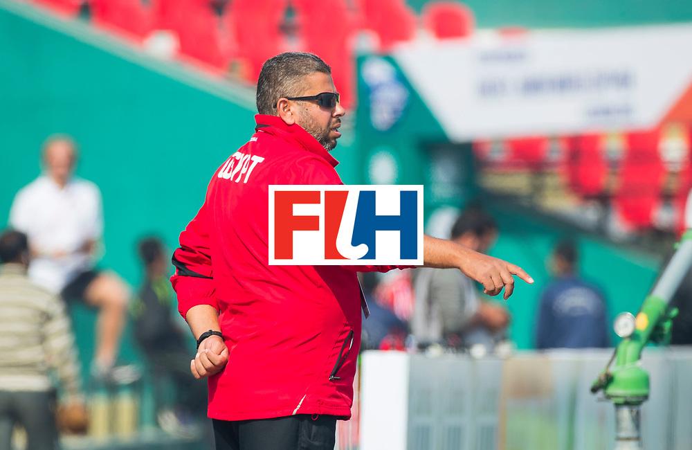LUCKNOW (India) -   Junior World Cup hockey  U21 for men .  Belgium v Egypt , coach Elbidwy Sayed (EGY)  COPYRIGHT  KOEN SUYK