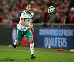 Northern Ireland's Conor Washington during the FIFA World Cup Qualifying second leg match at St Jakob Park, Basel. PRESS ASSOCIATION Photo. Picture date: Sunday November 12, 2017. See PA story SOCCER Switzerland. Photo credit should read: Nick Potts/PA Wire