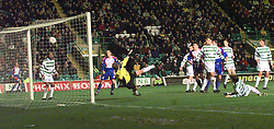 """CELTIC V INVERNESS CALEY PIC:SCHOFIELD.CALEY'S 2ND GOAL, SCORED BY MANN (NOT IN PIC)..The team is also famous for its Scottish Cup victories over Celtic in 2000 and winning 3-1 at Celtic Park, resulting in the headline """"Super Caley Go Ballistic Celtic Are Atrocious"""" in The Scottish Sun..©2010 Michael Schofield. All Rights Reserved."""