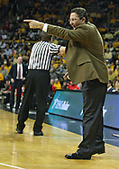 January 27, 2010: Iowa head coach Todd Lickliter points to a player  during the first half of their game at Carver-Hawkeye Arena in Iowa City, Iowa on January 27, 2010. Ohio State defeated Iowa 65-57.