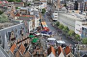 Nederland, Nijmegen, 22-8-2012Panorama van de stad aan de waal vanaf de St. Stevenskerk.Foto: Flip Franssen