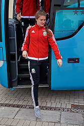 CARDIFF, WALES - Friday, August 19, 2016: Wales' goalkeeper Claire Skinner arrives at Rodney Parade ahead of the international friendly match against Republic of Ireland at Rodney Parade. (Pic by David Rawcliffe/Propaganda)
