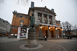A statue of Norwegian writer Henrik Ibsen outside the National Theatre in Oslo, Norway.